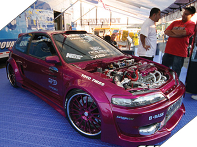 U002792 Honda Civic Hatch Wide Body   Fuchsia